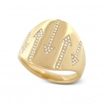 0.19ct 14k Yellow Gold Diamond Arrow Ring
