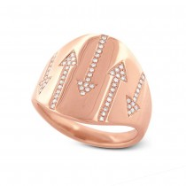 0.19ct 14k Rose Gold Diamond Arrow Ring