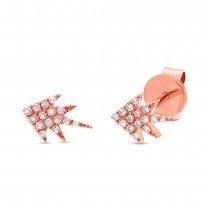 0.08ct 14k Rose Gold Diamond Stud Earrings
