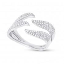 0.50ct 14k White Gold Diamond Pave Lady's Ring