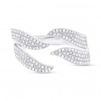 0.50ct 14k White Gold Diamond Pave Lady's Ring