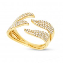 0.50ct 14k Yellow Gold Diamond Pave Lady's Ring