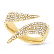 0.42ct 14k Yellow Gold Diamond Pave Lady's Ring