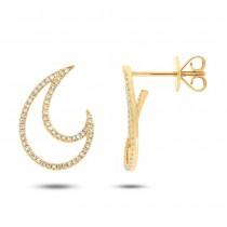 0.27ct 14k Yellow Gold Diamond Earrings