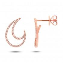 0.27ct 14k Rose Gold Diamond Earrings