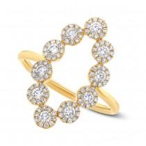 0.72ct 14k Yellow Gold Diamond Lady's Ring