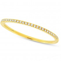 0.10ct 14k Yellow Gold Diamond Lady's Band