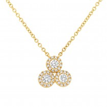 0.23ct 14k Yellow Gold Diamond Necklace