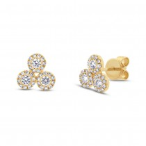 0.46ct 14k Yellow Gold Diamond Earrings