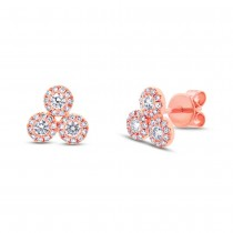 0.46ct 14k Rose Gold Diamond Earrings
