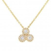 0.34ct 14k Yellow Gold Diamond Necklace