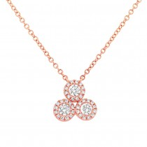 0.34ct 14k Rose Gold Diamond Necklace
