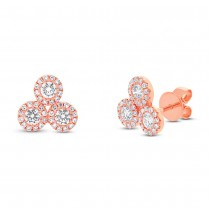 0.68ct 14k Rose Gold Diamond Earrings