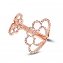 0.31ct 14k Rose Gold Diamond Lady's Ring