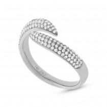 0.43ct 14k White Gold Diamond Pave Lady's Ring