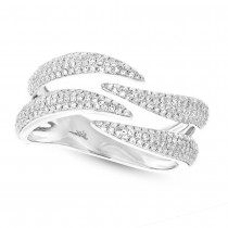 0.59ct 14k White Gold Diamond Pave Lady's Ring