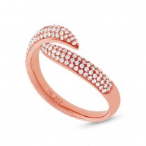 0.43ct 14k Rose Gold Diamond Pave Lady's Ring