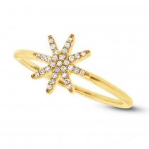 0.10ct 14k Yellow Gold Diamond Lady's Ring