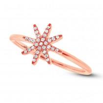 0.10ct 14k Rose Gold Diamond Lady's Ring