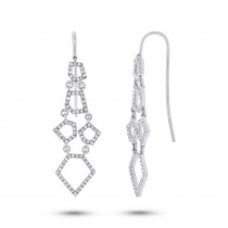 0.48ct 14k White Gold Diamond Earrings