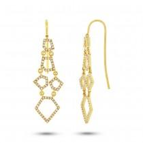 0.48ct 14k Yellow Gold Diamond Earrings