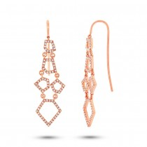0.48ct 14k Rose Gold Diamond Earrings