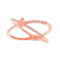 0.12ct 14k Rose Gold Diamond Lady's Ring