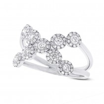 0.69ct 14k White Gold Diamond Lady's Ring