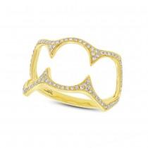 0.23ct 14k Yellow Gold Diamond Lady's Ring