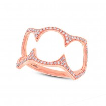 0.23ct 14k Rose Gold Diamond Lady's Ring