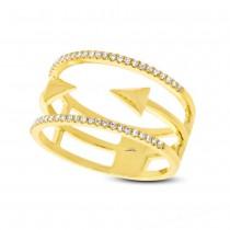 0.15ct 14k Yellow Gold Diamond Lady's Ring