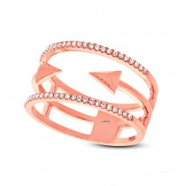 0.15ct 14k Rose Gold Diamond Lady's Ring