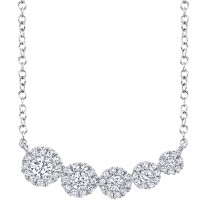 0.32ct 14k White Gold Diamond Necklace