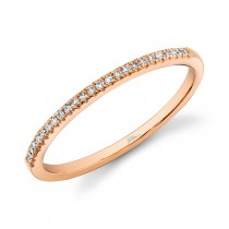 0.08ct 14k Rose Gold Diamond Lady's Band