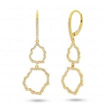 0.44ct 14k Yellow Gold Diamond Earrings