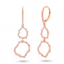 0.44ct 14k Rose Gold Diamond Earrings