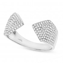 0.55ct 14k White Gold Diamond Pave Lady's Ring