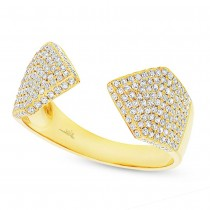 0.55ct 14k Yellow Gold Diamond Pave Lady's Ring