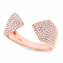 0.55ct 14k Rose Gold Diamond Pave Lady's Ring