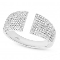 0.60ct 14k White Gold Diamond Pave Lady's Ring