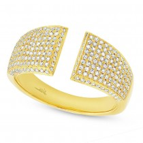 0.60ct 14k Yellow Gold Diamond Pave Lady's Ring