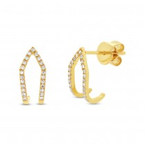 0.15ct 14k Yellow Gold Diamond Earrings