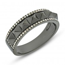 0.20ct 14k Black Rhodium Gold Champagne Diamond Lady's Ring