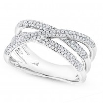 0.50ct 14k White Gold Diamond Bridge Ring