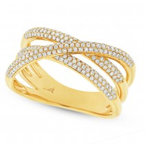 0.50ct 14k Yellow Gold Diamond Bridge Ring