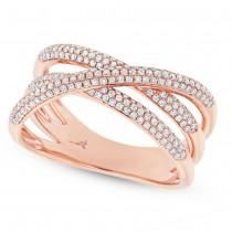 0.50ct 14k Rose Gold Diamond Bridge Ring