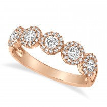 0.70ct 14k Rose Gold Diamond Lady's Ring