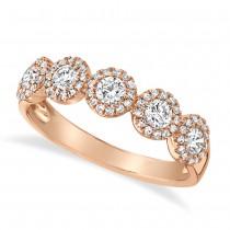 0.70ct 14k Rose Gold Diamond Lady's Ring