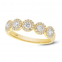 0.57ct 14k Yellow Gold Diamond Lady's Ring