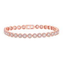 3.79ct 14k Rose Gold Diamond Lady's Bracelet